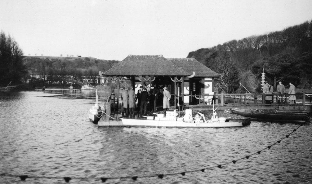 Naval Warefare preparations on the boat deck at Peasholm Park