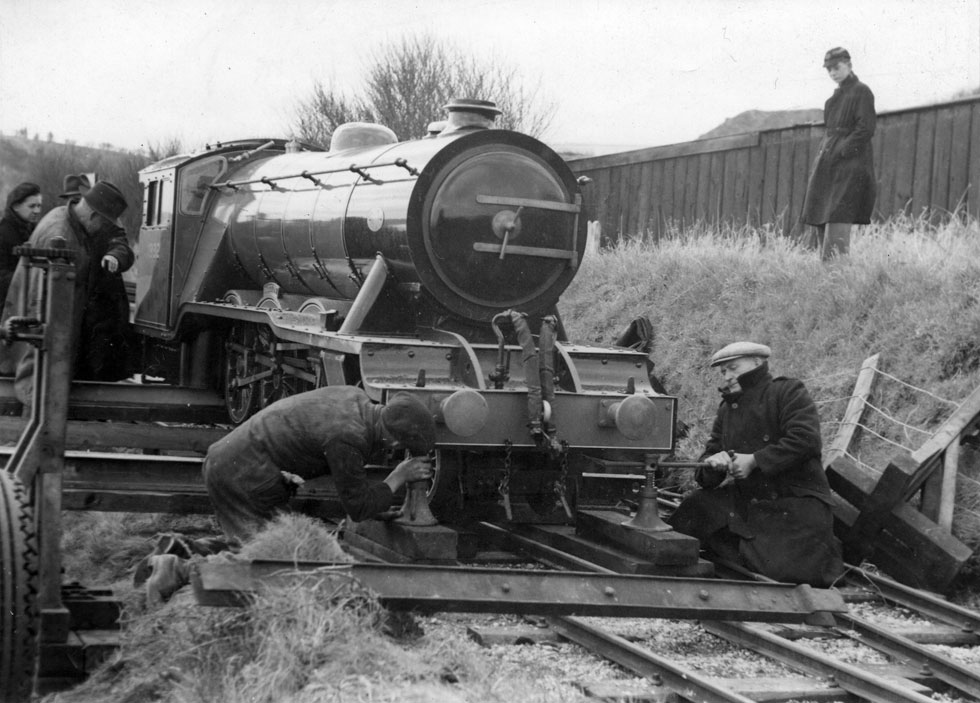 The arrival of the second Locomotive 'Trition' at North Bay Railway, 1932