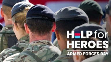 Celebrate those who give our nation their all. #saluteourforces Help for Heroes